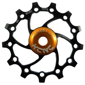 KCNC Jockey Wheel - SS Rodamiento Estrecho Ancho Largo Dientes 14 dientes negro
